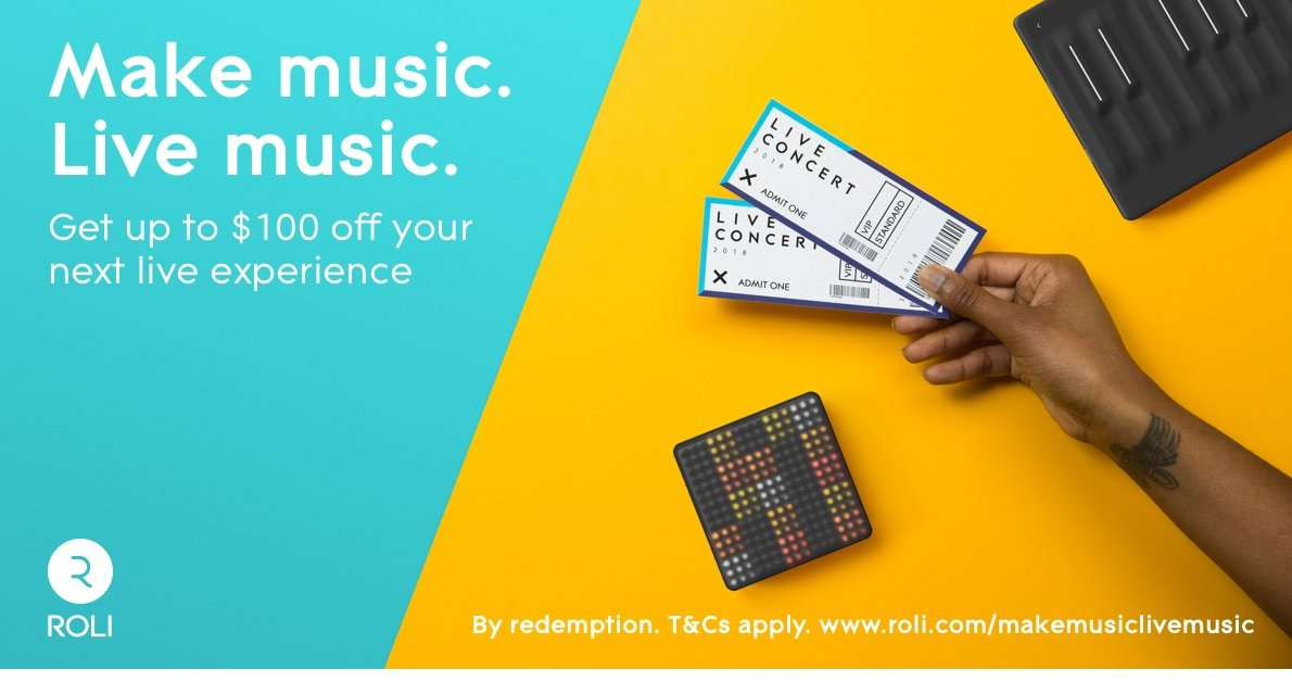 ROLI <b>Free</b> Ticketmaster Voucher Offer!