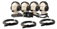 PortaCom 4-Person Intercom System with Cables