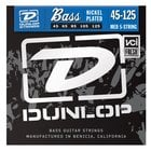 Dunlop Manufacturing DBN45125 Medium Nickel Plated Steel 5-String Electric Bass Strings DBN45125