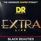 DR Strings BKB-40 ExtraLifeLiteBlackBeauties Light Black Beauties K3 Coated Electric Bass Strings