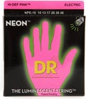 DR Strings NPE-10 Medium NEON HiDef SuperStrings Electric Guitar Strings in Pink NPE-10