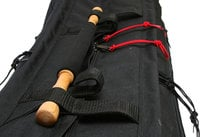 "Black 38"" Long Tripod Mummy Case"