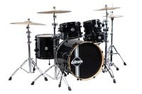 ddrum REFLEX-BLACK Reflex 5-Piece Reflex Series Alder Shell Pack in Black