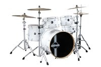ddrum Reflex 5-Piece Reflex Series Alder Shell Pack in White REFLEX-WHITE