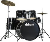 ddrum d2 5 Piece Drum Set in Midnight Black with Cymbals & Hardware