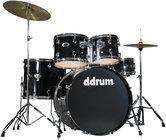 ddrum D2-MIDNIGHT-BLACK d2 5 Piece Drum Set in Midnight Black with Cymbals & Hardware
