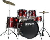 ddrum D2-BLOOD-RED d2 5 Piece Drum Kit in Blood Red with Hardware & Cymbals