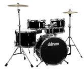 ddrum D1-MIDNIGHT-BLACK d1 5 Piece Junior Drum Kit with Hardware & Cymbals in Midnight Black