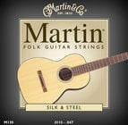 Martin Strings M130-MARTIN Silk & Steel Folk Acoustic Guitar Strings M130-MARTIN