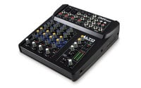 6-Channel Compact Mixer with 3-Band EQ and 2 Microphone Inputs
