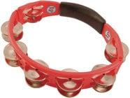 Latin Percussion LP151 Cyclops Handheld Tambourine in Red with Steel Jingles