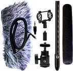 Mini Shotgun Mic Kit for DSLRs with Accessories