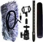 Mini Shotgun Mic Kit for DSLRs with Accessories