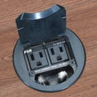 Table Boxe with Pre-installed Pull-out Cables, 2 AC, 2 Data RJ-45 CAT-5e