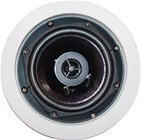 "70V, 2-Way White In-Ceiling Speaker, 6.5"" Woofer, 0.5"" Tweeter"