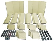 Primacoustic LONDON-16 Broadway Acoustical Panels Room Kit with 6 Broadway Panels, 12 Control Columns, 24 Scatter Blocks