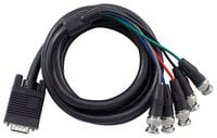 6 ft Male VGA to BNC Breakout Cable