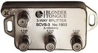 Blonder-Tongue SCVS-3 Splitter 3way L-style  #1903