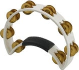 Rhythm Tech RT1021 White Tambourine with Brass Jingles