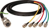 TecNec E26F-5BP-50 Hybrid Cable for JVC to 5 BNC, 50ft