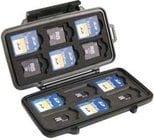 Pelican Cases PC0915 Black Memory Card Case for up to 12 SD, 6 Mini SD, & 6 Micro SD Cards
