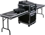 ATA Combo Rack Case (13RU Slanted, 16RU Vertical) with Wheels & 2 Side Tables