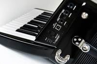 Piano-Type Digital Accordion in Black with Speaker