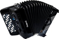 Button-Type Diatonic Digital Accordion in Black with Speaker