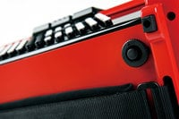 Button-Type Diatonic Digital Accordion in Red with Speaker
