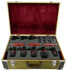 Drum Mic Kit, 8 Mics, Tweed Case
