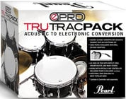 "Tru-Trac Electronic Drumhead Set for 12"", 13"", 16"" Toms, Bass Drum, and 14"" Snare"