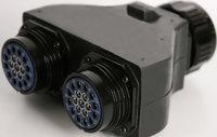 Lex DB20A-19MFF LSC19 Pin 6-Circuit Splitter 20 Amp 19-Pin 6-Circuit Splitter