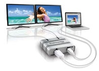 Matrox DUAL2GO-DP2D-MIF Dualhead2Go Digital ME External Multi-Display Adapter for Mac