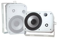 "Pyle Pro PDWR50W Pair of 6.5"" Outdoor Speakers in White"