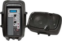 "600W, 10"" Powered 2-Way PA Speaker with MP3/USB/SD Playback"