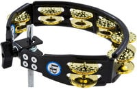 Latin Percussion LP179 Cyclops Mountable BlackTambourine with Dimpled Brass Jingles