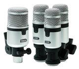 Miktek Audio PMD4  Drum Microphone Kit (1 x PM11, 3 x PM10)
