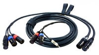 M3 7-Pin Quick Release Cable System Set: 18 ft. (2) XLR-3F Mixer End and 30.5