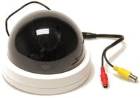 Focus-Free Dome Camera in White