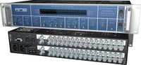 "24-Bit/192 kHz, 2x 64-channel MADI <> AES-3id Format Converter, BNC 75 Ohm, with Redundant PSU, 19"" W, 2 RU"
