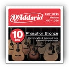 D`Addario EJ17-10P 10-Pack of Medium Phosphor Bronze Acoustic Guitar Strings