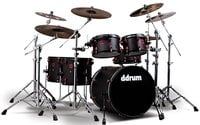 ddrum HYBRID-6 Hybrid 6 Piece Hybrid Acoustic Drum Kit with Acoustic Pro Triggers