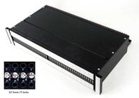 Switchcraft TTEZN20SLB Z Norm Programmable Patchbay, 2RU, Solder Lug I/O, Cable Tie Bar