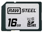 Hoodman Corporation RAWSDHC16GBU1 16GB RAW STEEL Ultra High Speed UHS-1 Card