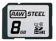 Hoodman Corporation RAWSDHC8GBU1 8GB RAW STEEL Ultra High Speed UHS-1 Card