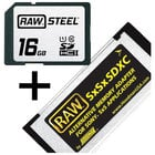 RAW STEEL Adapter Kit, RAWSDHC16GBU1 10 &  SXS
