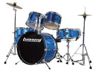 Ludwig Drums LJR106 5-Pc Junior Drum Kit with Hardware and Cymbals