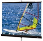 "Draper Shade and Screen 215024  109"" Diplomat R Portable Projection Screen, Matte White"