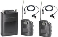 Portable UHF Dual Bodypack Wireless Microphone System TV44-49