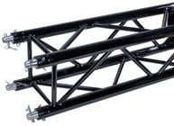 Global Truss SQ-4113-BLK 8.20 ft, F34 Square Truss Segment in Black Powder Coat Finish